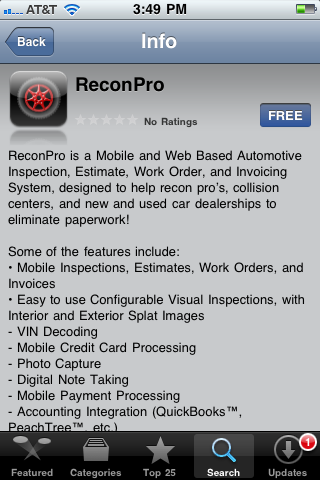 ReconPro iPhone Application